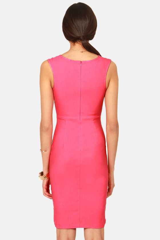 LULUS Exclusive Curve-age Under Fire Pink Midi Dress at Lulus.com!