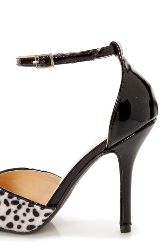 Shoe Republic LA York Black Animal Print D'Orsay Pointed Pumps at Lulus.com!