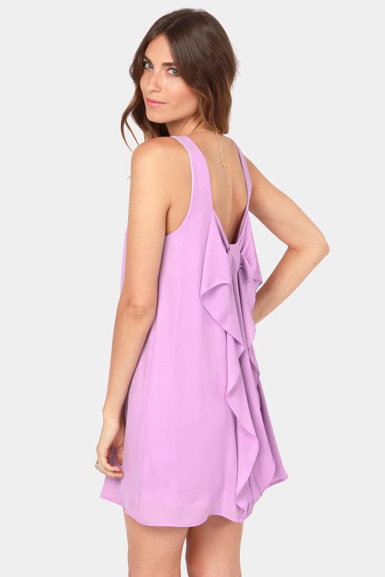 Cute Lavender Dress - Shift Dress - Bow Dress - $49.00