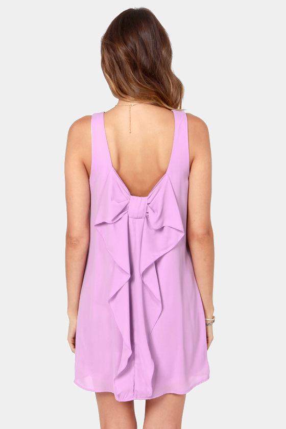 Under the Bow-dwalk Lavender Shift Dress at Lulus.com!