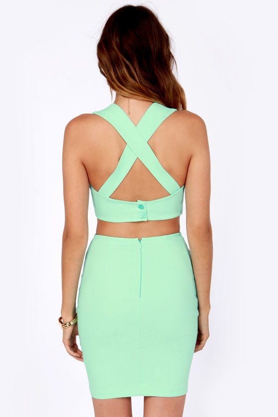 X Marks the Spot Mint Green Bustier Top at Lulus.com!