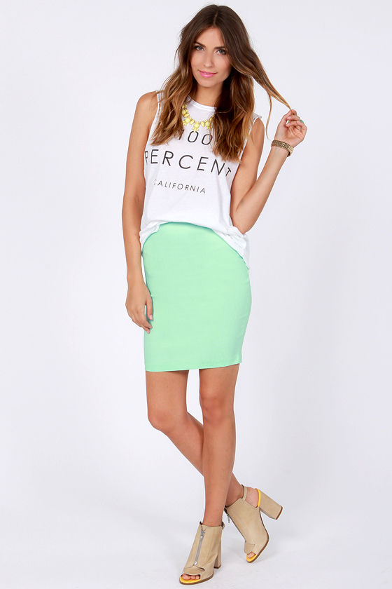 Pencil You In Mint Green Pencil Skirt at Lulus.com!