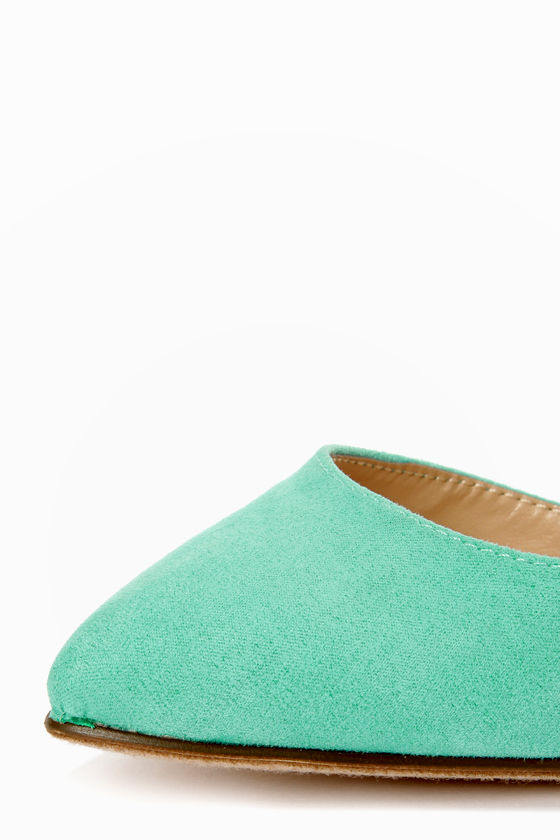 Mavis 01 Mint and Snake Print D'Orsay Pointed Pumps at Lulus.com!