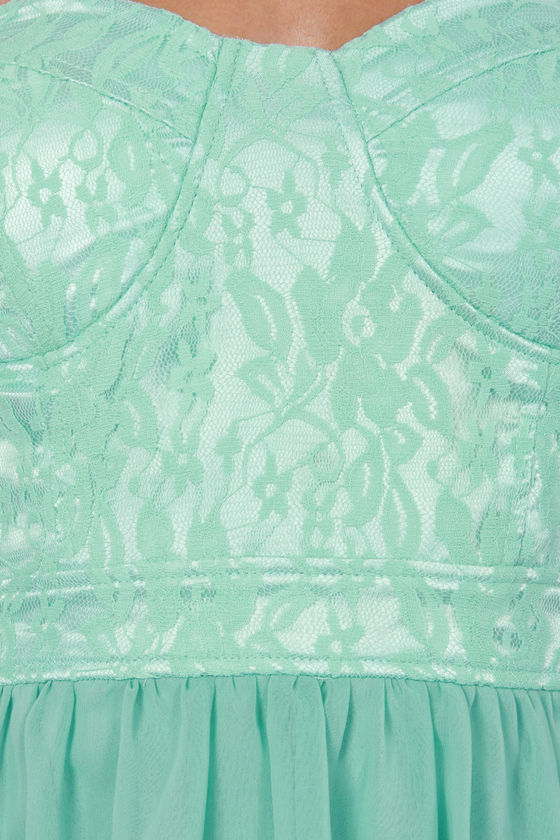 Keep a High-Low Profile Strapless Mint Dress at Lulus.com!