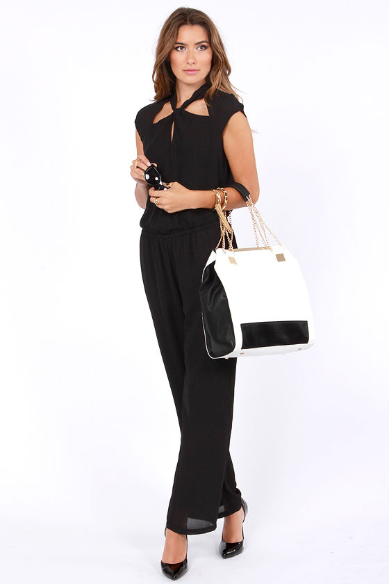 Shake a Leg Black Jumpsuit at Lulus.com!