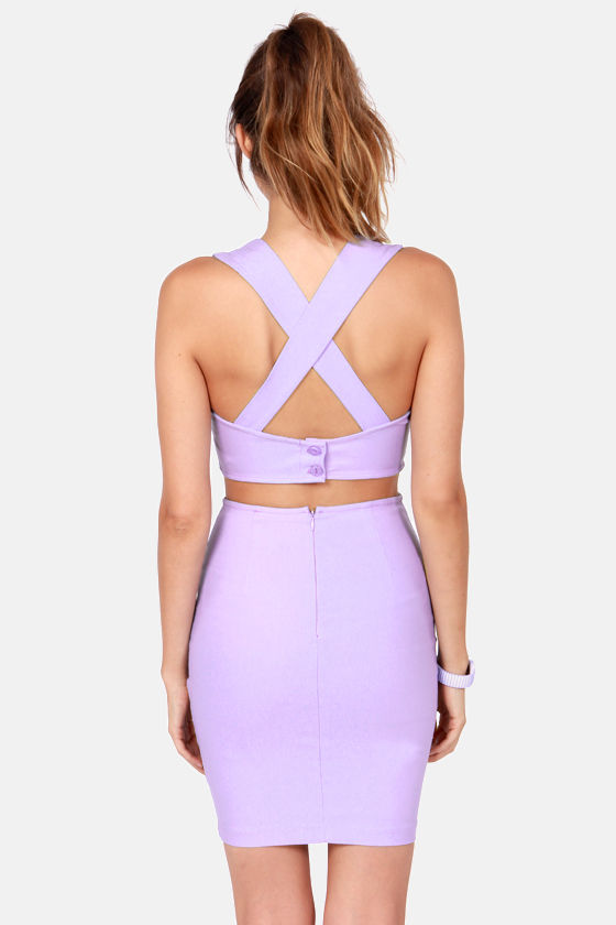 X Marks the Spot Lavender Bustier Top at Lulus.com!