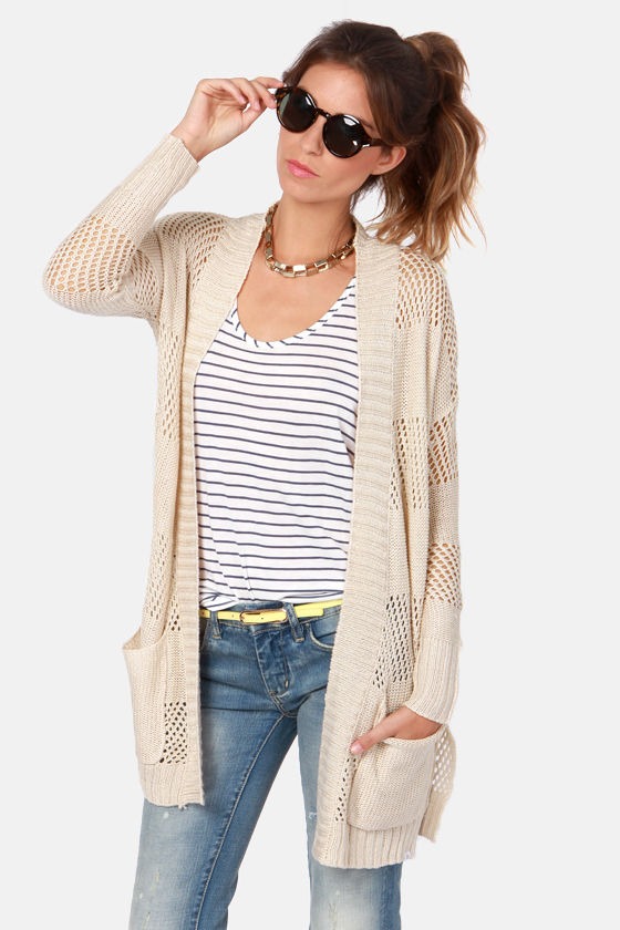 Element Eden Winnie Beige Knit Sweater at Lulus.com!