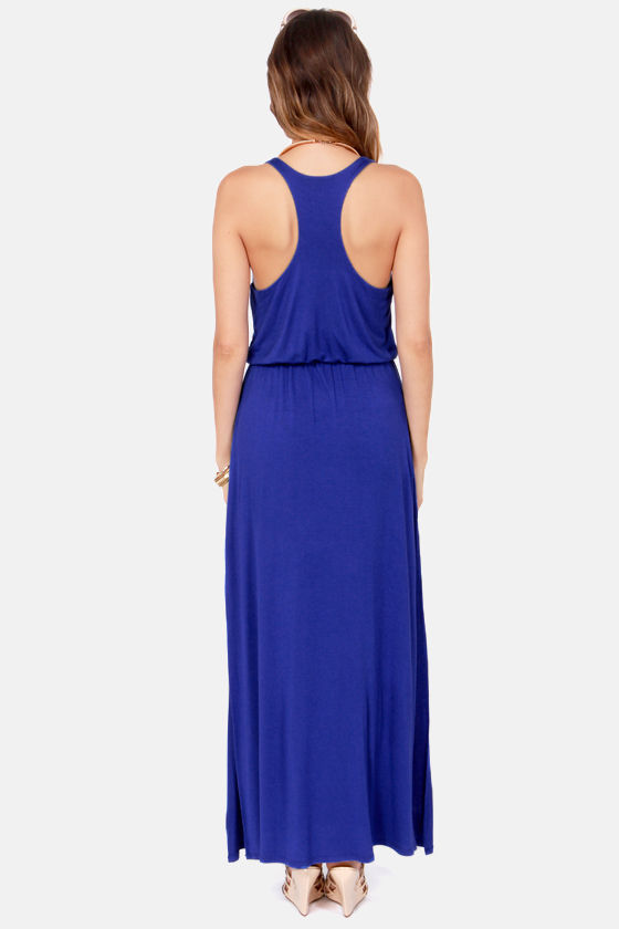 LULUS Exclusive Most Wanted Royal Blue Maxi Dress at Lulus!
