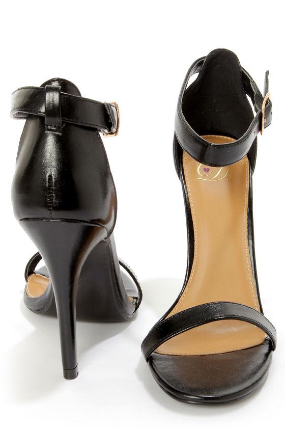 Single Strap Heels - A