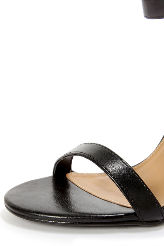 My Delicious Chacha Matte Black Single Strap High Heels at Lulus.com!