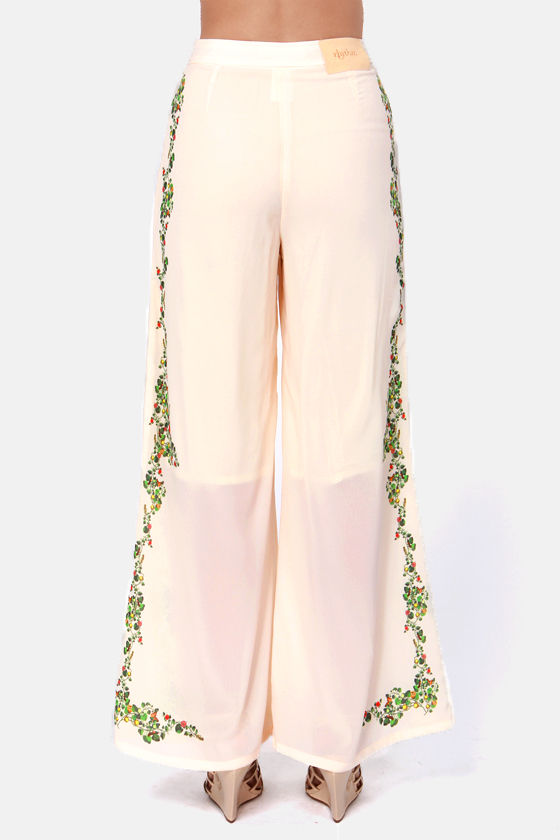 Rhythm Bridge Cream Print Pants at Lulus.com!
