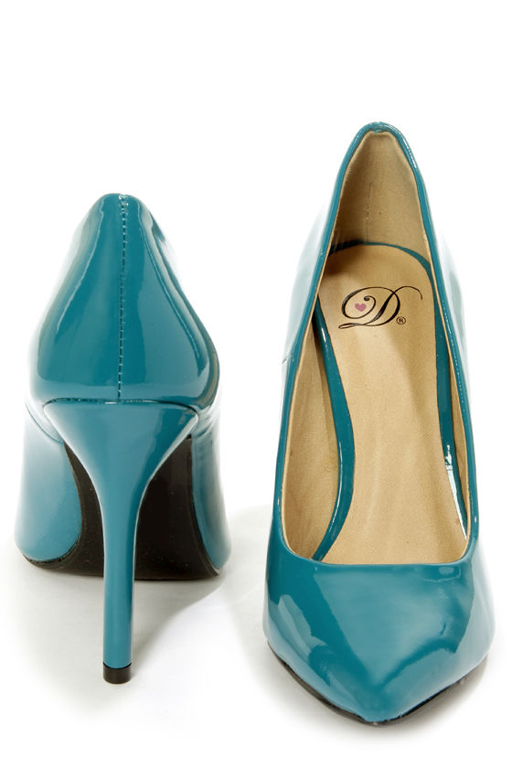 My Delicious Date Dark Teal Patent Pointed Pumps at Lulus.com!