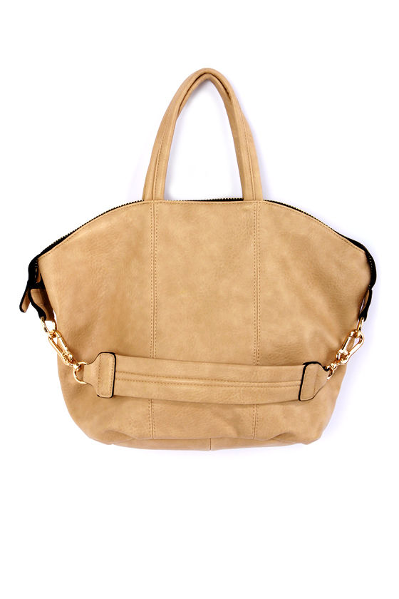 Zip Uptown Tan Handbag at Lulus.com!