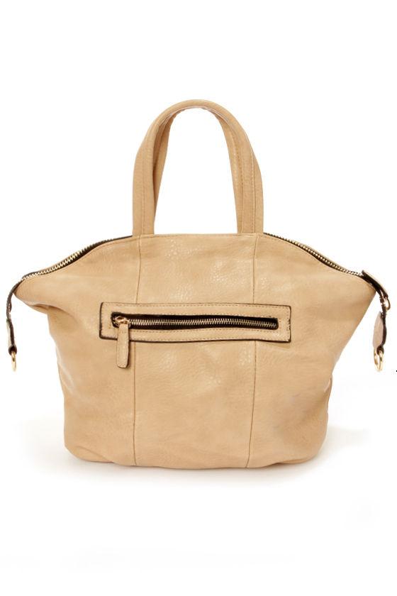 Zip Uptown Tan Handbag at Lulus.com!
