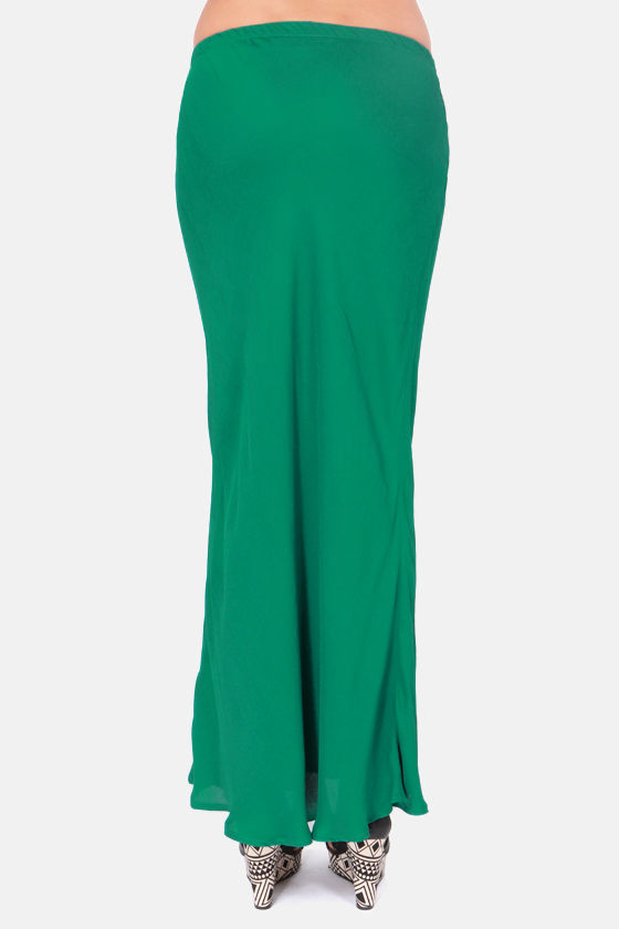 Lucy Love Emerald Green Maxi Skirt at Lulus.com!