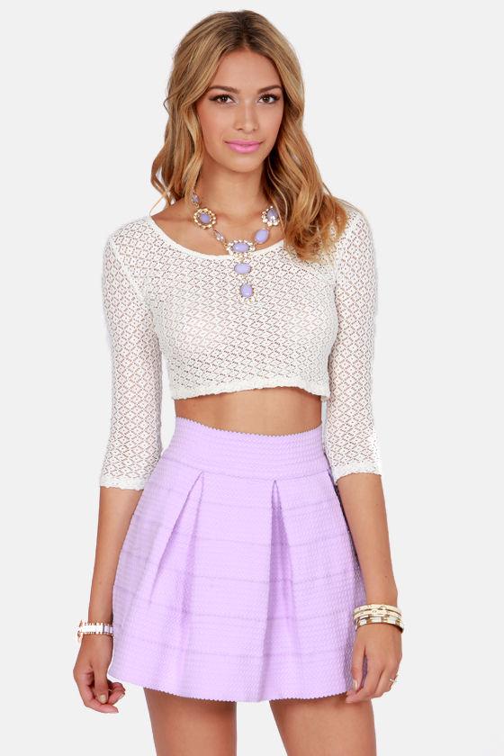 Feeling Lovesick Lavender Bandage Skirt at Lulus.com!