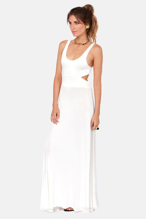 Tall of the Wild Ivory Maxi Dress at Lulus.com!