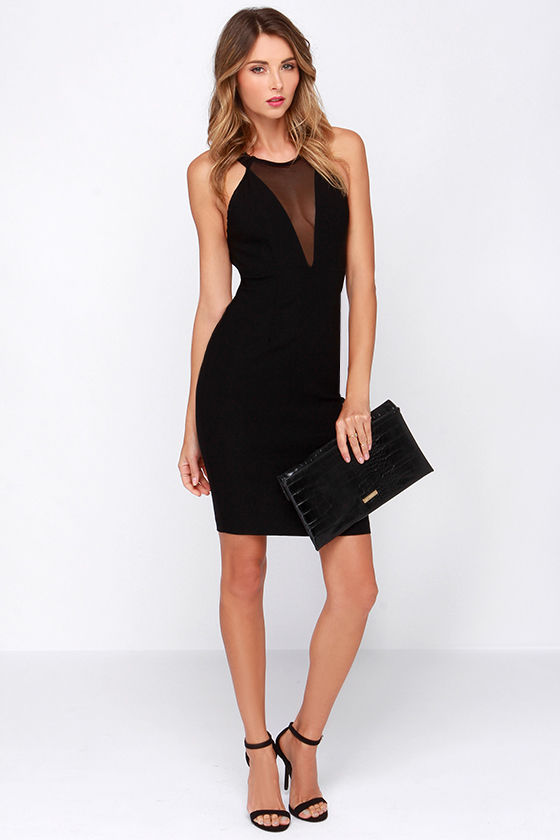 Sexy Black Dress - Cutout Dress - Halter Dress - $44.00