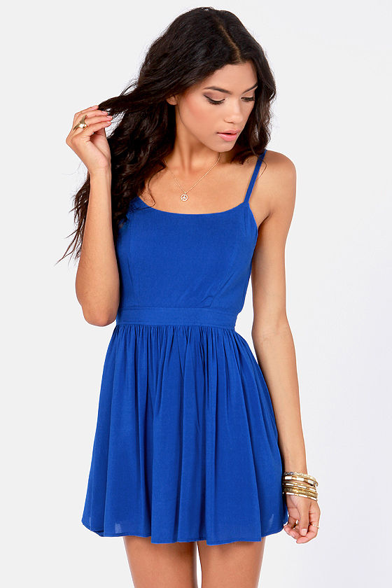 Getting Back Together Royal Blue Backless Dress at Lulus.com!