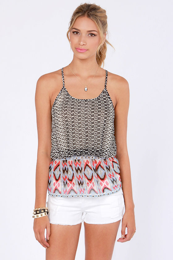 Print-ciples of Design Print Tank Top at Lulus.com!