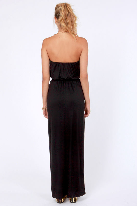 Stretch the Truth Strapless Black Maxi Dress at Lulus.com!
