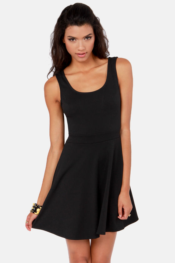 Bow-tiful Dreamer Backless Black Dress at Lulus.com!