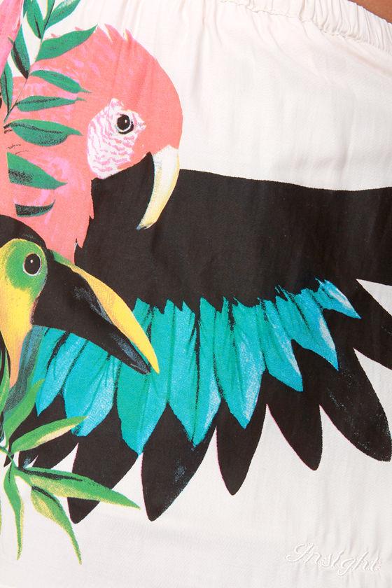 Insight Tropico Cream Tropical Print Shorts at Lulus.com!