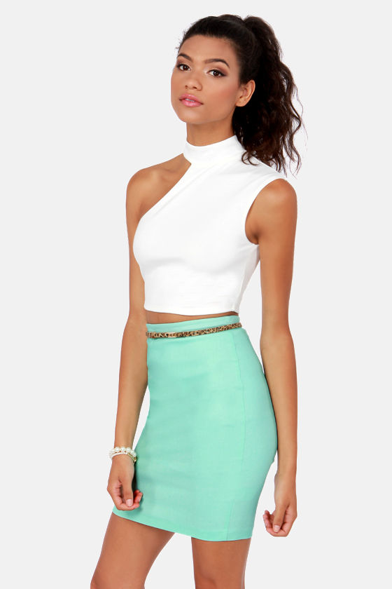 Half Time Show Ivory Crop Top at Lulus.com!