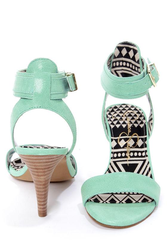 Jessica Simpson Erikk Pastel Green Single Strap Sandals at Lulus.com!