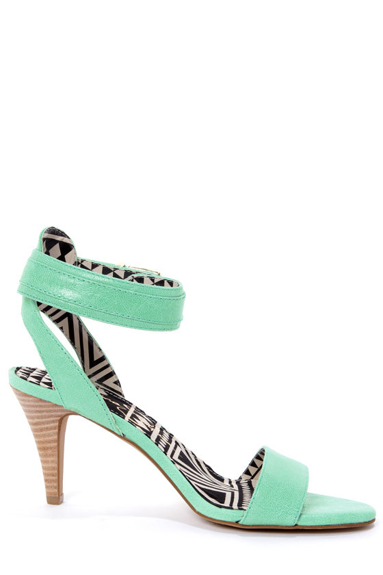 Jessica Simpson Erikk Pastel Green Single Strap Sandals at Lulus.com!
