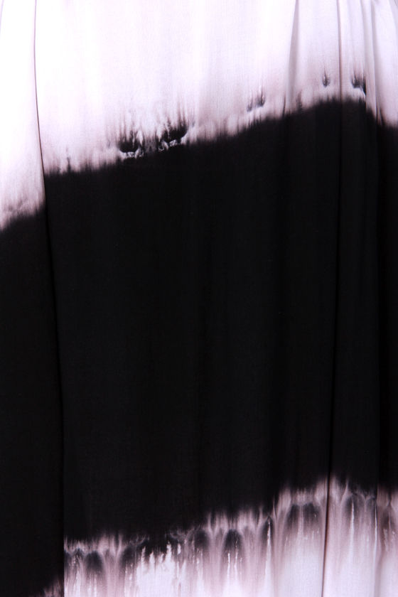 Costa Blanca Tie-Dye-al Wave Black and White Maxi Dress at Lulus.com!