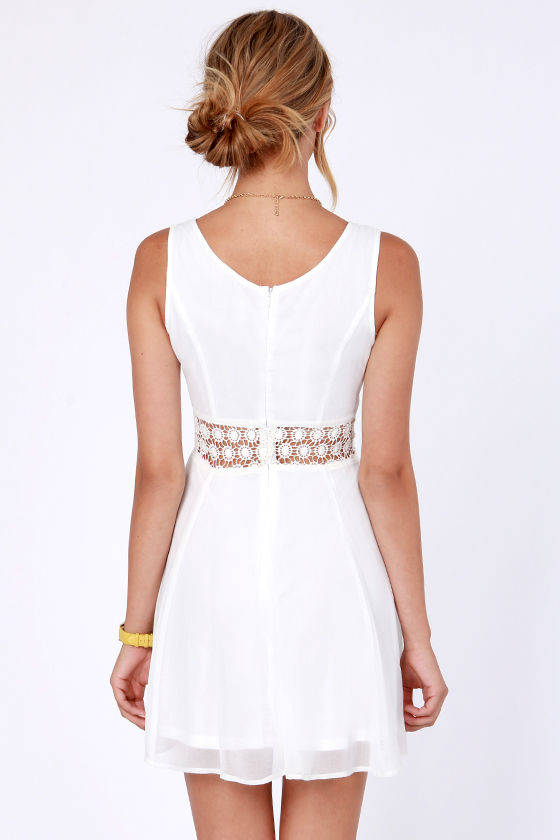 Afternoon in the Park Ivory Chiffon Dress at Lulus.com!