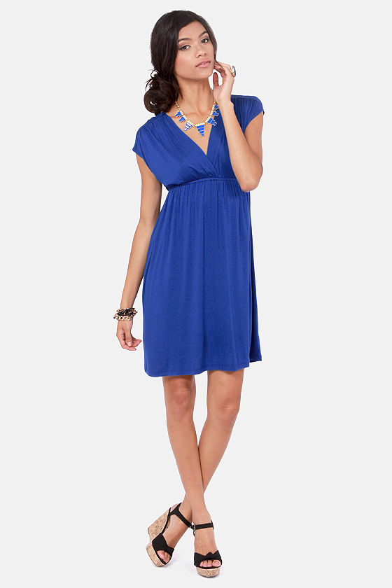 Love Has Arrived Royal Blue Dress at Lulus.com!