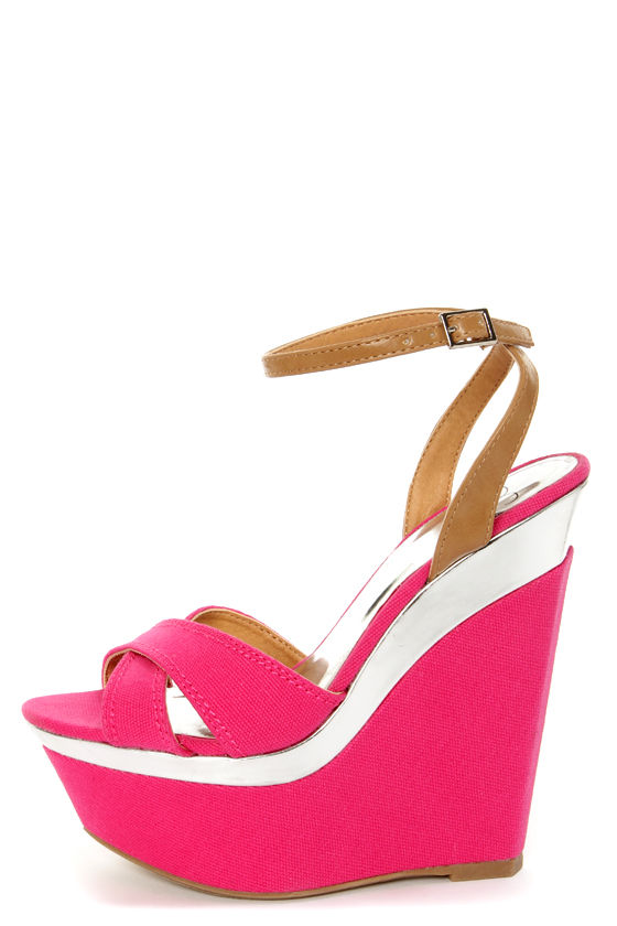 And Sandals Silver My Angeni Platform Wedge Delicious Fuchsia byf6gIYv7