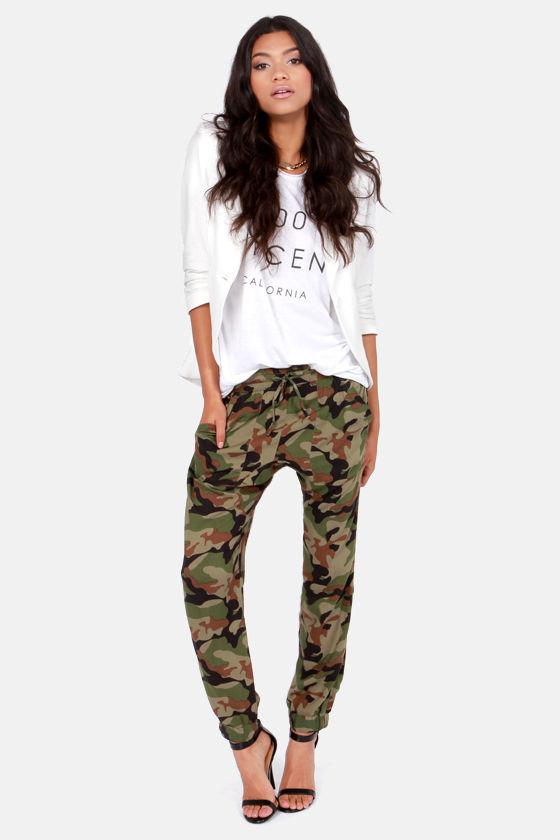 d16445f7d88c7 Obey Keegan Pants - Harem Pants - Camo Print Pants - $64.00