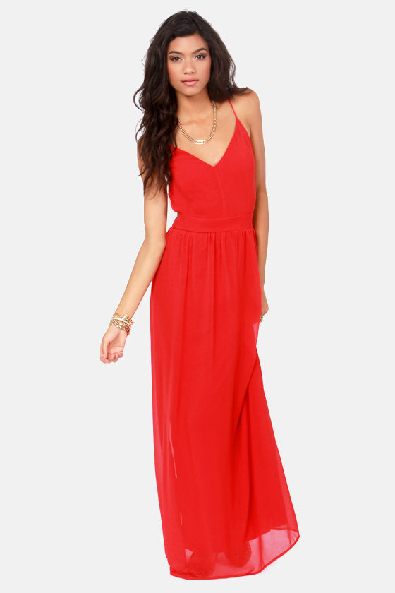 7794982ad2e Sexy Red Backless Dress - Red Dress - Maxi Dress