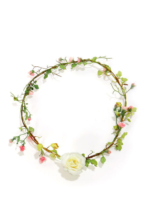 Fairy Weather Friend Pink Flower Crown at Lulus.com!