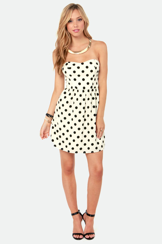 School of Dot Ivory Polka Dot Dress at Lulus.com!