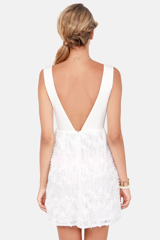 When in Romance Ivory Lace Dress at Lulus.com!