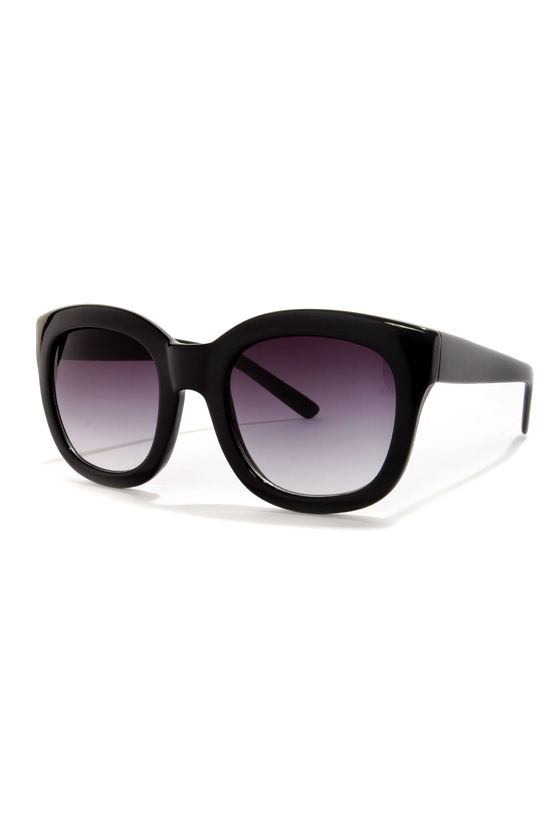 Feline Black Sunglasses at Lulus.com!