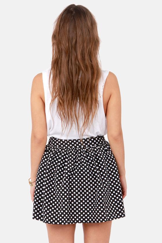 Elementary, My Dear Spot-son Black Polka Dot Skirt at Lulus.com!