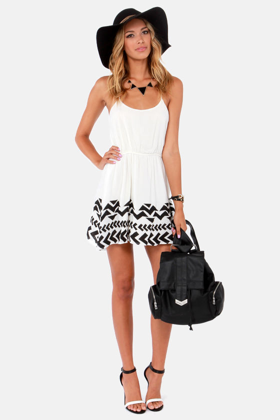 Lucca Couture Feeling Fine Ivory Print Dress at Lulus.com!