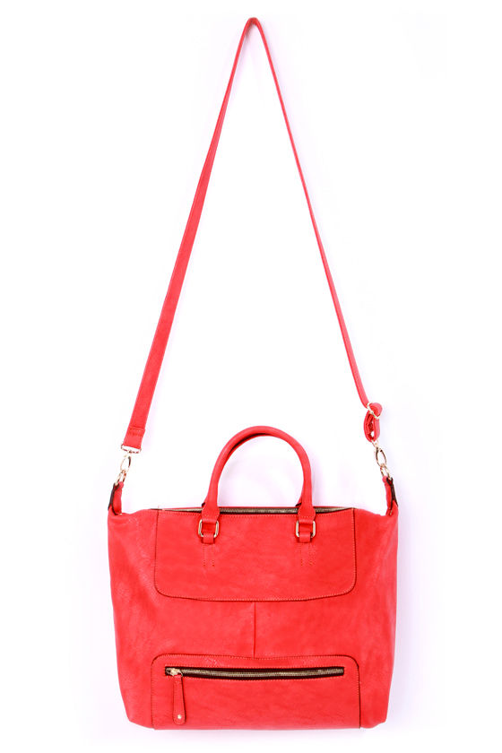Juicy Details Coral Red Handbag at Lulus.com!