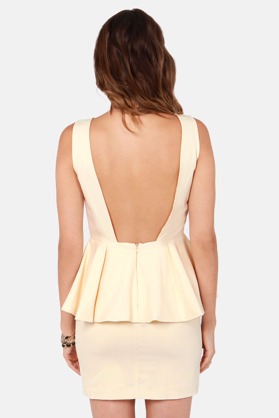 Blaque Label Final Showcase Cream Dress at Lulus.com!