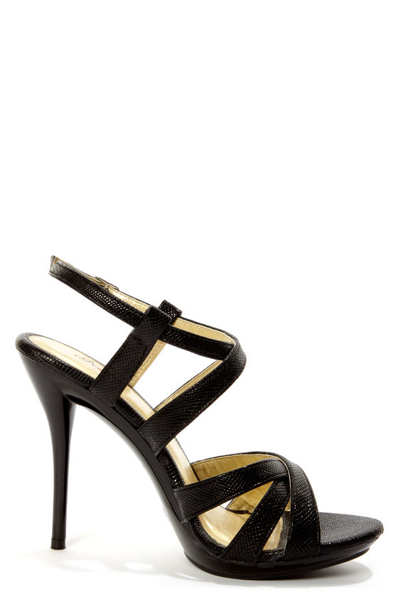 Promise Zuni Black Strappy Dress Sandals at Lulus.com!