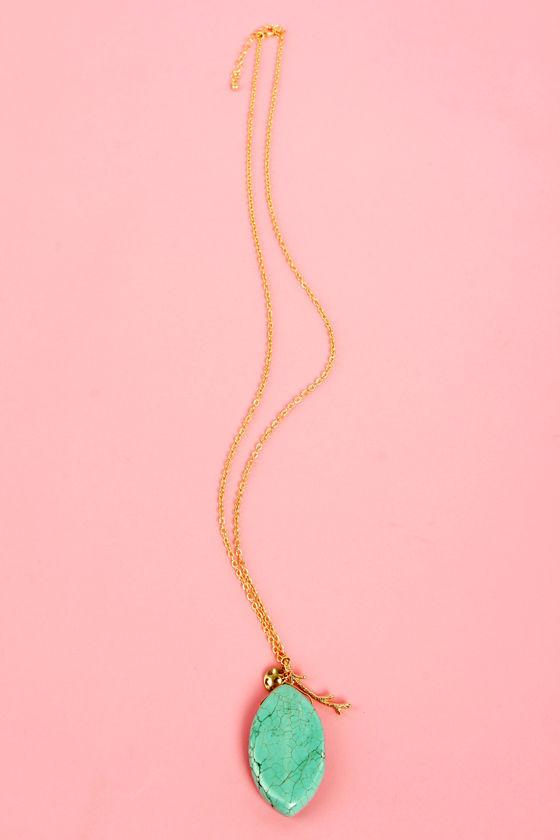 Turquoise and Caicos Gold Necklace at Lulus.com!