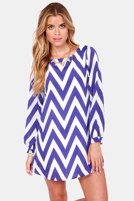 Cute Striped Dress - Chevron Dress - Shift Dress - $49.00