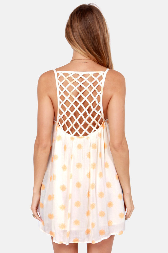 O'Neill Paige Cream Print Dress at Lulus.com!