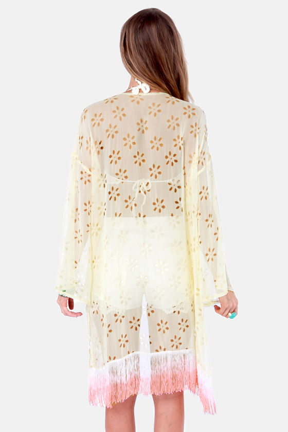 Gypsy Junkies Georgie Cream Kimono Top at Lulus.com!