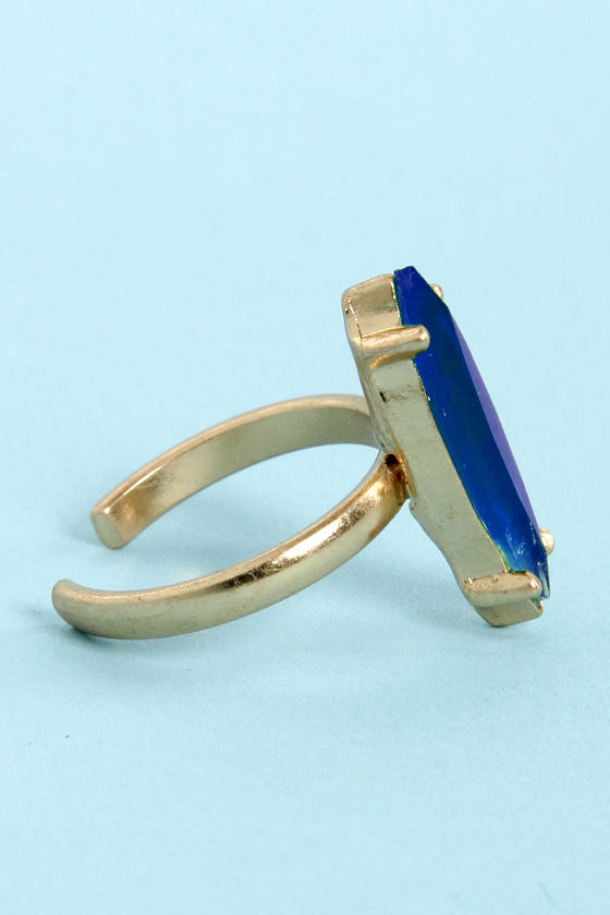 The Whole Nine Shards Blue Knuckle Ring at Lulus.com!
